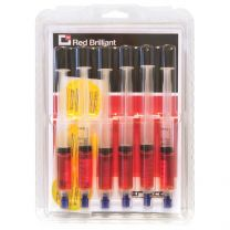 RED BRILLIANT - Tracciante UV per Impianti A/C Veicoli Ibridi & Elettrici R134a & R1234yf, 6 pz.